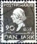 Stamps Denmark -  Scott#250 intercambio, 1,25 usd, 20 cents. 1935