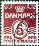 Sellos de Europa - Dinamarca -  Scott#224 intercambio, 0,25 usd, 5 cents. 1938