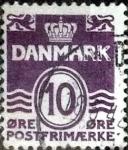 Stamps Denmark -  Scott#230 intercambio, 0,25 usd, 10 cents. 1938