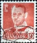 Sellos de Europa - Dinamarca -  Scott#335 intercambio, 0,20 usd, 30 cents. 1952