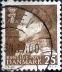 Sellos de Europa - Dinamarca -  Scott#384 intercambio, 0,20 usd, 25 cents. 1963
