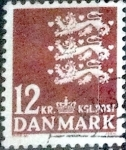 Sellos de Europa - Dinamarca -  Scott#649 intercambio, 0,55 usd, 12 coronas 1981