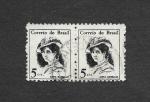 Stamps Brazil -  1039 - Anita Garibaldi