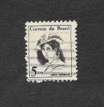 Sellos de America - Brasil -  1039 - Anita Garibaldi