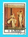 Stamps United Arab Emirates -  AJMAN - la flagelación - Villa del misterio - Arte Romano - Pompeya