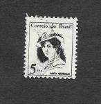 Sellos de America - Brasil -  Anita Garibaldi