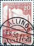 Sellos de Europa - Dinamarca -  Scott#317 intercambio, 0,20 usd, 20 cents. 1950