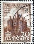 Sellos de Europa - Dinamarca -  Scott#344 intercambio, 0,20 usd, 20 cents. 1953