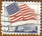 Stamps Europe - United States -  Flag over White House