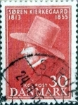 Sellos de Europa - Dinamarca -  Scott#359 intercambio, 0,20 usd, 30 cents. 1955
