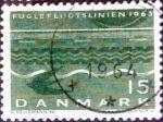 Sellos de Europa - Dinamarca -  Scott#407 intercambio, 0,20 usd, 15 cents. 1963