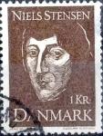 Sellos de Europa - Dinamarca -  Scott#462 intercambio, 0,20 usd, 1 corona 1969
