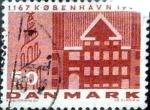 Stamps Denmark -  Scott#434 intercambio, 0,20 usd, 50 cents. 1967