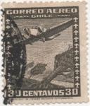Sellos de America - Chile -  Y & T Nº 33   Aéreo