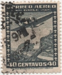 Stamps America - Chile -  Y & T Nº 33a  Aéreo