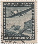 Stamps Chile -  Y & T Nº 33a [1] Aéreo
