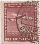 Stamps America - Chile -  Y & T Nº 45 Aéreo