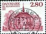 Sellos de Europa - Dinamarca -  Scott#769 intercambio, 0,25 usd, 2,80 coronas 1985