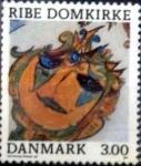 Sellos de Europa - Dinamarca -  Scott#834 intercambio, 0,85 usd, 3,00 coronas 1987
