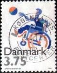Sellos de Europa - Dinamarca -  Scott#1045 intercambio, 0,30 usd, 3,75 coronas 1996