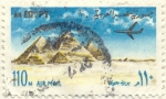 Stamps Africa - Egypt -  Piramides y avión