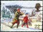 Sellos de Europa - Reino Unido -  Scott#1341 intercambio, 0,30 usd, 22 p. 1990