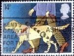 Stamps United Kingdom -  Scott#937 intercambio, 0,30 usd, 14 p. 1981