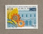 Sellos de Europa - Italia -  50 Aniv. Consejo Nacional de Economia