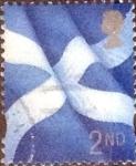 Sellos de Europa - Reino Unido -  Scott#Escocia 14, intercambio, 0,30 usd, 2nd. 1999