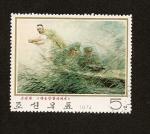 Stamps Asia - North Korea -  camuflaje de soldados en combate