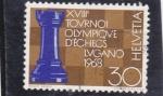Stamps Switzerland -  TORNEO DE AJEDREZ LUGANO