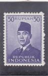 Sellos del Mundo : Asia : Indonesia : Presidente Sukarno-