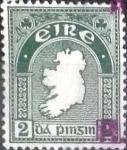 Stamps of the world : Ireland :  Scott#109 intercambio, 0,40 usd, 2 p. 1940