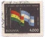 Sellos de America - Bolivia -  Conmemoracion de la vista del Dr. Arturo Frondizi, Presidente de Argentina