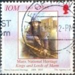 Stamps of the world : Isle of Man :  Scott#1050d intercambio, 1,00 usd, 25 p. 2004