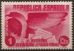 Sellos del Mundo : Europa : España : XL Aniv Asociación Prensa Aereo 1936 1 cent