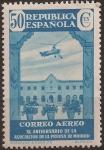 Sellos del Mundo : Europa : España : XL Aniv Asociación Prensa Aereo 1936 50 cents