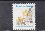Sellos de America - Brasil -  FLORES- caesalpina