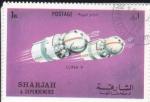 Sellos de Asia - Emiratos Árabes Unidos -  AERONAUTICA- LUNA 9