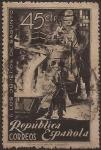 Sellos del Mundo : Europa : España : Homenaje a los Obreros de Sagunto  1938  45 cents