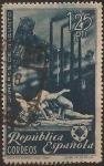 Sellos del Mundo : Europa : España : Homenaje a los Obreros de Sagunto  1938  1.25 ptas
