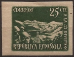 Stamps Spain -  Homenaje a la 43 División  1938  25 cents