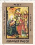 Sellos de Europa - Hungría -  ADORACIÓN NIÑO JESUS
