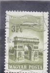 Stamps Hungary -  AVIÓN Y ARCO DEL TRIUNFO DE PARIS