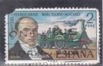 Stamps of the world : Spain :  125 ANIV.FERROCARRIL BARCELONA-MATARO (30)