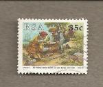 Stamps Africa - South Africa -  Grupo personas negociando
