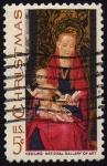 Stamps United States -  INT-VIRGEN Y NIÑO JESUS- MEMLING NATIONAL GALLERY OF ART
