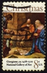 Stamps United States -  INT-PORTAL DE BELÉN-GIORGIONE 1478-1510-NATIONAL GALLERY OF ART