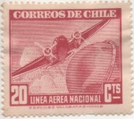 Stamps America - Chile -  Y & T Nº 54 Aéreo