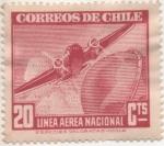 Sellos del Mundo : America : Chile : Y & T Nº 54 Aéreo